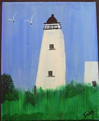 Ocracoke Light-Bertha Hosey#8 (ocracokepreservationsociety) Tags: ocracoke ops obx ocracokeisland opsauction art