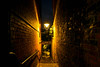Altstadtgang (pyrolim) Tags: lübeck abend gang altstadt lampe leuchte strasenlampe geländer backstein mauern city night