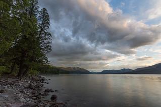 Clouds at Lake McDonald