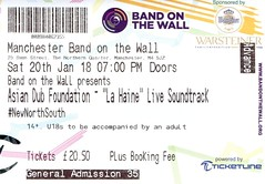 La Haine with live soundtrack by Asian Dub Foundation @ Band On The Wall, Manchester 20/1/2018 (stillunusual) Tags: lahaine asiandubfoundation adf bandonthewall manchester cinema film movie soundtrack livesoundtrack livescore mcr england uk ticket cinematicket 2018