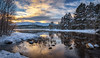 Loch Morlich Sunrise (jasty78) Tags: lochmorlich cairngorms cairngormmountain snow loch trees winter scotland nikond7200 tokina1116mm twb