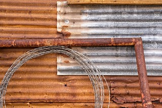 Rusted Corrugated Shed 5511 A