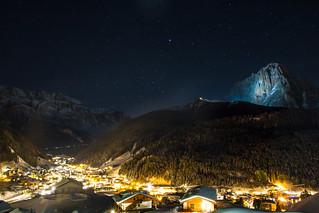 Winternacht in Wolkenstein