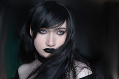 Goth 2 (Silje Roos) Tags: photo photography photos photoshoot portrait picture photographys pretty people pale photograph pro goth gothic gotisk emo black beauty model hotgirl hot girl woman hair blackhair beautiful fashion inspiration luxury face grey