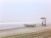 Misty Beach (CrowInFlight) Tags: atlanticcity beach rowboat lifeguard fog mist newjersey water sand ocean atlanticocean summer swimming