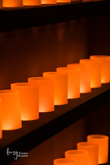 Tea light shelves (Lauren Taliana) Tags: london thecharterhouse moody simple shelves shelf red orange candles candle tealight light flickr nikon nikkor elements