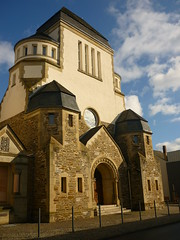 Ehemalige Synagoge (Jörg Paul Kaspari) Tags: wittlich synagoge ehemalige wittlicher eifel moseleifel eingang eigangsportal portal westfassade jugendstil 1910 kreisbaumeister vienkens
