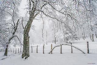 Urkiola cubierto de nieve