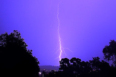 Bolt From The Blue (Ggreybeard) Tags: electricalstorm lightning bolt strike earth forked