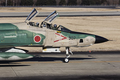 Japan Air Self Defence Force, McDonnell Douglas RF-4EJ Kai Phantom II, 57-6907. (M. Leith Photography) Tags: mark leith photography japan japanese self air defence force jasdf mcdonnell douglas phantom f4 ibaraki hyakuri sunshine base fighter nikon d7000 d7200 70200vrii 300mmf4 nikkor asia flying military sky building airplane cockpit aircraft jet road grass tree