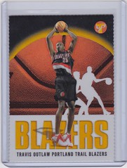2003-04 Topps Pristine Gold Refractor #167 Travis Outlaw RC #'d 91:99 1 (hoosierdealer) Tags: 200304 topps pristine basketball refractor serial numbered d uncirculated rookie rc ry
