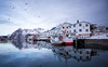 Henningsvaer, Lofoten Islands, Norway (monsieur I) Tags: winter henningsvaer wetreflection lofoten boats cold norway iced travel north coldwater mountains lofotenislands norwegian monsieuri fishing articcircle