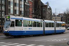 801, Amsterdam Centraal, January 27th 2015 (Southsea_Matt) Tags: 801 route9 serie12g gvbamsterdam centraalamsterdamhollandthe netherlandspassenger travelpublic transporttrammetrolight rail