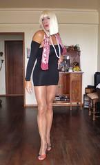 Karen (Karen Maris) Tags: tg tgirl tgurl blonde legs karen tranny trannie transgender transsexual transvestite pantyhose sheer tights heels highheels crossdress crossdresser