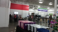 Red stripe – just a hint of what's to come, décor-wise... (Retail Retell) Tags: sams club southaven ms desoto county retail membership warehouse store remodel