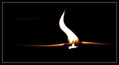 Igneus Lignum (J Michael Hamon) Tags: macromondays flame fire ignite stick bamboo skewer blackbackground photoborder burn burning warp macro closeup hamon nikon d3200 nikkor 40mm vignette