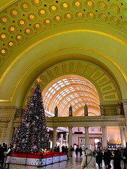 Washington Union Station (#KPbIM) Tags: 2017 winter december travel trip dc maryland vacation washington virginia arch building amtrak train architecture union station tree christmas spirit holiday decorations