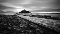 St Michael's Mount, Cornwall (socreative) Tags: seascape landscape long exposure capture perspective cornwall england travel sunset clouds black white bw