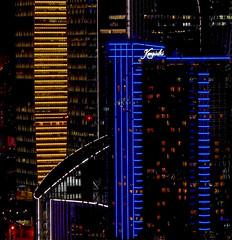 Shanghai - Pudong la nuit. Graphisme. (Gilles Daligand) Tags: chine china shanghai pudong nuit night gratteciel eclairages illuminations architcture graphisme panasonic gx7 ville town lumières