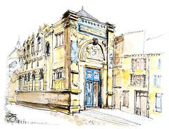 Niort, Pavillon Grappelli (Croctoo) Tags: croctoo croctoofr croquis crayon aquarelle watercolor ville niort