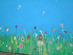 DSC03750 (classroomcamera) Tags: school campus playground play playing paint painting mural murals art artwork handmade kid kids student students flower flowers field grass green blue grassy butterfly butterflies petal petals color colors decoration decorations beautify beautification stem steams