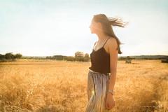 Portrait into Macchiaioli field (violabuzzi) Tags: wheat gold grano field landscape macchiaioli summer estate golden wind nature grass oro montacalvello violabuzzi girl woman ragazza princesse