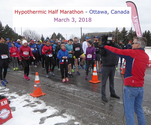 Hypothermic Half-Marathon, Ottawa, March 3, 2018 (Names & over 100 photos)