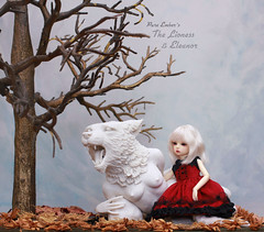 Nothing (pure_embers) Tags: pure embers laura uk england pureembers photography story white porcelain lioness crystal morey sculpture anthropomorphic resin bjd 16 doll dolls ns girl maskcat feline mini eleanor pureemberseleanor photo ball joint hair red oddprincess dress tree