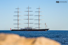 Maltese Falcon - 88m - Perini Navi (Raphaël Belly Photography) Tags: rb raphaël monaco raphael belly photographie photography yacht boat bateau superyacht my yachts ship ships vessel vessels sea maltese falcon 88m perini navi blue bleu bleue gris grise grigio grey silver argent