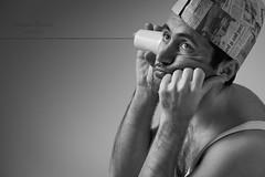 The mechanical telephone |04-XX| XX ways to communicate (Giovanni Riccioni) Tags: 2018 5d advertising autoritratto autoscatto bw biancoenero bianconero bicchiere blackandwhite blackwhite canon canon430exii canonef75300mmf456iiiusm canoneos5d communicate communication comunicare comunicazione copertina eos filo flash fullframe giovanni giovanniriccioniphotography glass italia italy man novara phottix phottixplato piedmont piemonte plato portrait pubblicità ritratto selfportrait selftimer speedlight strobe uomo wire telefono telephone telefonomeccanico mechanicaltelephone devices device barattolo hooke roberthooke acustictelephone creative creativity creativo creatività arte art