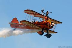 PT-17 Kaydet N74189 - Aero Super Batics - Rendcomb Airfield (stu norris) Tags: pt17kaydet n74189 aerosuperbatics rendcombairfield boeing duxford airshow aviation breitlingwingwalkers biplane duxfordairfestival2017