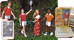 BIRTHDAY PRESENTS Part Three (ModBarbieLover) Tags: free moving 1974 1975 barbie ken curtis dolls outdoors sports golf tennis