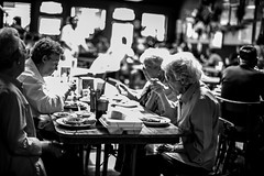 Victor's Cafeteria is a special place in New Iberia where Dave Robicheaux, a character created by James Lee Burke, likes to come for a good meal. (rvjak) Tags: louisiana newiberia usa etatsunis d750 nikon old women vieilles femmes noir blanc black white bw café restaurant cafeteria lunch déjeuner