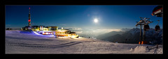 Dolomits Moon (richieb56) Tags: travel reisen mountain berg moon mond mist building architecture architektur ski winter kronplatz plateau dolomiten tirol südtirol alpine alpen italien italy ruhe tranquility quietness peace olang mast seilbahn ropeway schnee snow skiing adventure abenteuer frieden