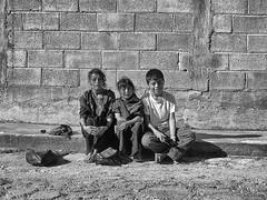 Sorrisi (Orange Attitude) Tags: chiapas blackandwhite smile children mexico street travel monocrome olympus bw mono bambini