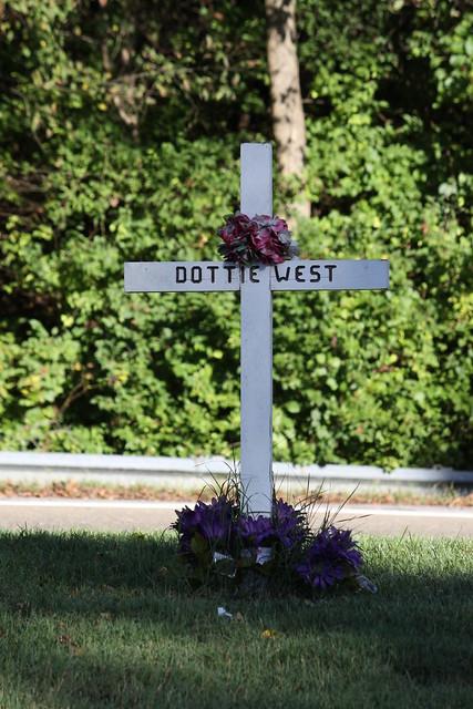 Site of Dottie West's Fatal Car Accident