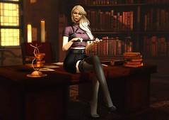 Late Fee (Felice Nightfire) Tags: domme bdsm mistress library secretary kneel