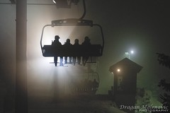 Chairlift in the Fog (Dragan.1971) Tags: chairlift fog mountain kopaonik serbia transport ski skiing winter snow track canon carry wire sport people lift night