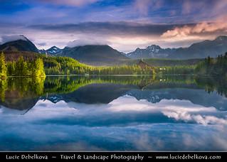 Slovakia - High Tatras Mountains - Divine light at Štrbské pleso - Mountain Glacial Lake at 1,346 m (4,416 ft)