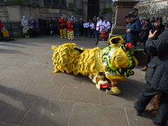 Yellow dragon for Chinese New Year - Birmingham Cathedral (ell brown) Tags: birmingham westmidlands england unitedkingdom greatbritain chinesequarter southside chinesenewyear yearofthedog happychinesenewyear yellowchinesedragon dragon colmorebid colmorebusinessdistrict templerow stphilipscathedral birminghamcathedral thecathedralchurchofstphilip gradeilistedbuilding gradeilisted churchofengland cathedralchurchofstphilip stphilipschurchyard colmorerow tree trees templerowwest birminghamchinesenewyearcelebration2018yearofthedog