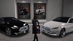 Black Or White (alexandriabrangwin) Tags: alexandriabrangwin secondlife 3d cgi computer graphics virtual world photography car shopping store room showroom q60 concept black gloss white chrome detail deciding wandering leather jacket elegant luxury motoring really expensive indulge infiniti