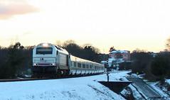 Trenh-siberianio (Iago González Vázquez) Tags: tren hotel teixeiro a coruña ferrocarril nieve talgo 334 euro 3000 nevada galicia barcelona renfe