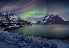 Lofoten Islands (tothfrantisek) Tags: landscape lofoten norway auroraborealis northernlights nightscape nature night snow mountain