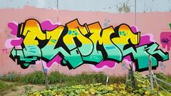 'Flame'... (colourourcity) Tags: streetart streetartnow streetartaustralia graffitimelbourne graffiti bunsen burner letters wildstyle awesome nofilters colourourcity bomb flame frame turbo 39 ci tab