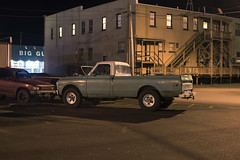 Clatskanie (Curtis Gregory Perry) Tags: clatskanie oregon night truck pickup chevy c20 c 20 custom 1969 1970 1971 1972 1968 1967 vehicle classic car long exposure nikon d810 parking lot toyota ford