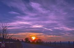 Sunset drive 4, Scotland (picsbyCaroline) Tags: sunset scotland drive car lanscape bright sun colour road