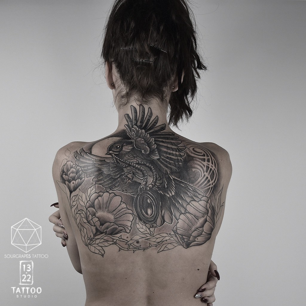 The world 39 s newest photos of blackwork and tattoo flickr for Botanical tattoo london