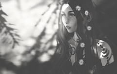 well (Cassandra Middles) Tags: iheartsl blog blogger blogging sl second life secondlife avatar druid ic roleplay aesthetic fashion rant vent depressed moon izzies veechi elixir revenland dryad bw black white dua lipa mood