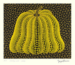 Pumpkin (Japanese Flower and Bird Art) Tags: flower pumpkin cucurbita pepo cucurbitaceae yayoi kusama modern screenprint print japan japanese art readercollection