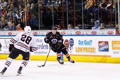 "Kansas City Mavericks vs. Indy Fuel, February 16, 2018, Silverstein Eye Centers Arena, Independence, Missouri.  Photo: © John Howe / Howe Creative Photography, all rights reserved 2018. • <a style=""font-size:0.8em;"" href=""http://www.flickr.com/photos/134016632@N02/39676461064/"" target=""_blank"">View on Flickr</a>"